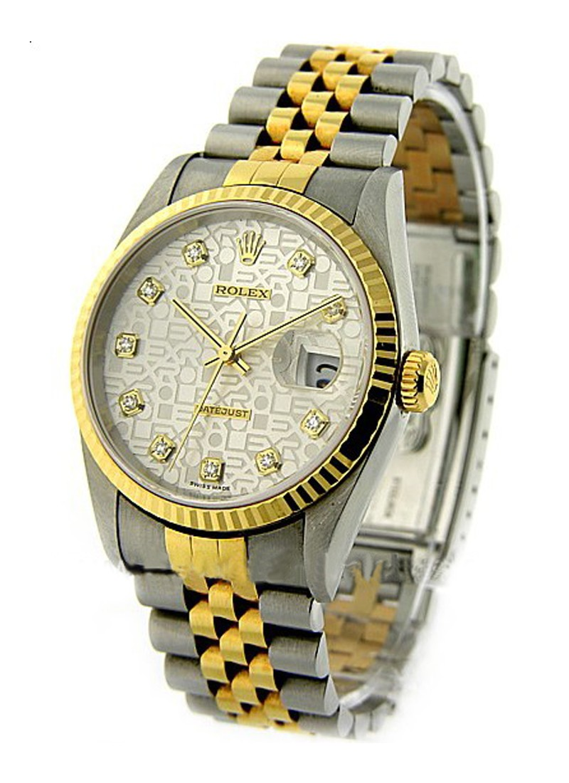 Rolex Used Men's 2 Tone Datejust