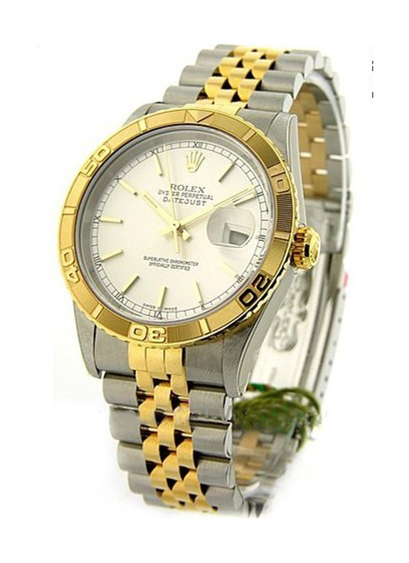 Rolex Used Datejust 36mm in Steel with Yellow Gold Fluted Bezel  circa 1998