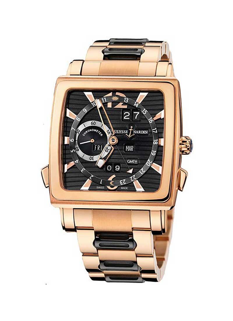 Ulysse Nardin Quadrato Dual Time Perpetual in Rose Gold