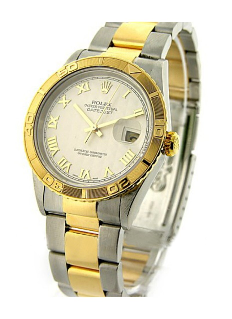 Rolex Used Datejust 2 Tone in Steel and Yellow Gold Turn O Graph Bezel