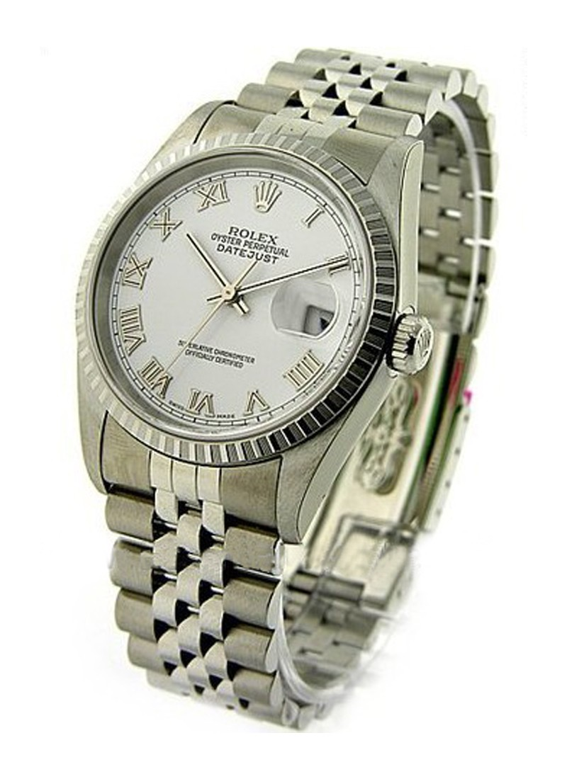 Rolex Used Men's Datejust 36mm with Engine Bezel