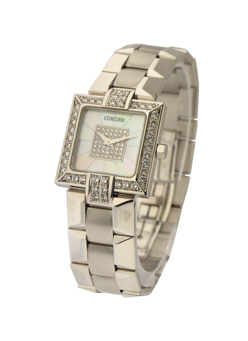 Concord La Scala Square - Diamond Bezel