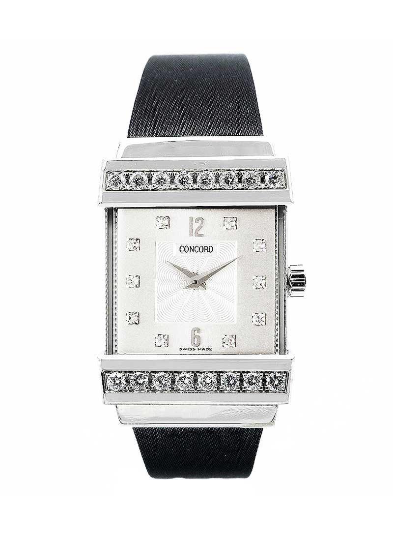 Concord Crystale Jewelry in White Gold with Diamond Bezel