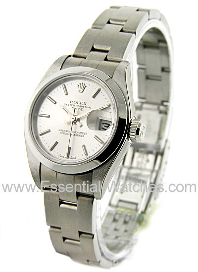Pre-Owned Rolex Lady's Datejust in Steel with Smooth Bezel