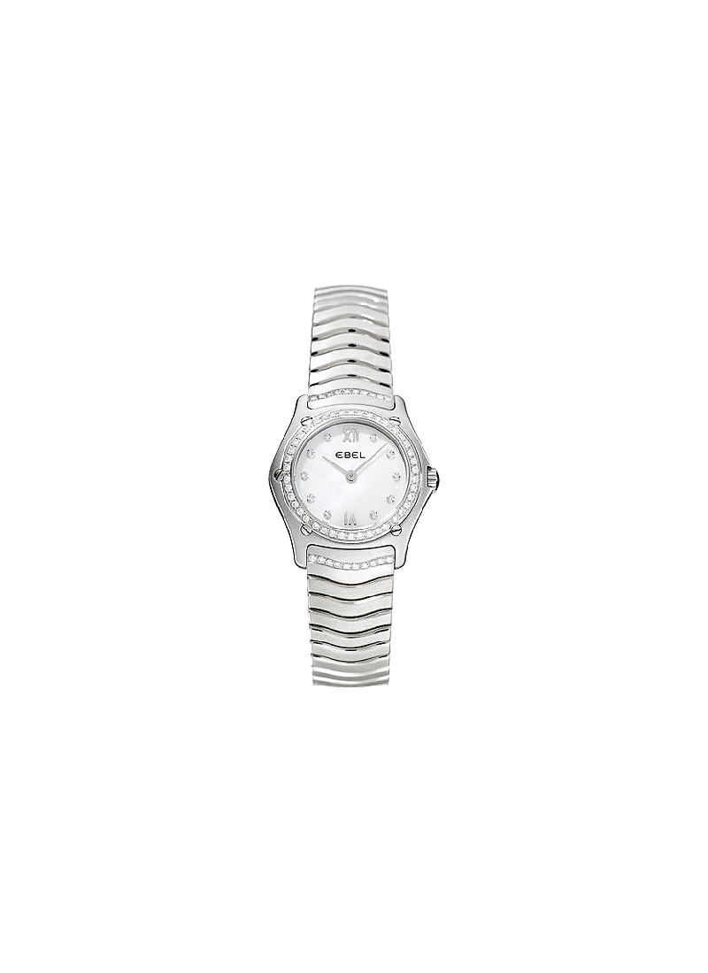 Ebel Classic Wave Ladies Mini 24mm in Steel with Diamond Bezel