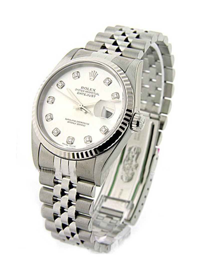Rolex Used Datejust 36mm in Steel with Fluted Bezel