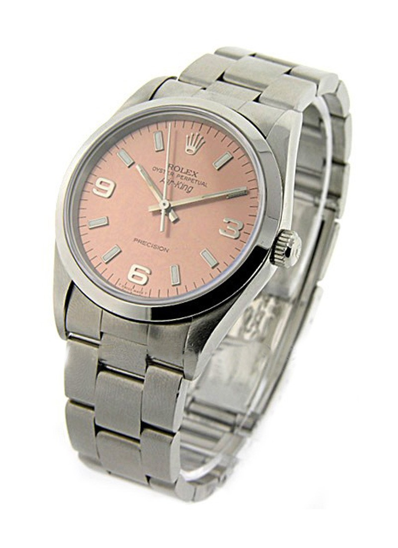 Pre-Owned Rolex Air King 34mm in Steel with Smooth Bezel