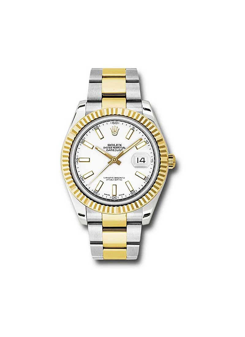 Rolex Unworn Datejust II   Steel and Yellow Gold with Fluted Bezel