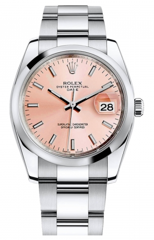 Rolex Used Oyster Perpetual Date 34mm in Steel with Domed Bezel
