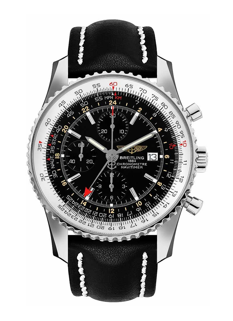 Breitling Navitimer World Chronograph 46mm in Steel