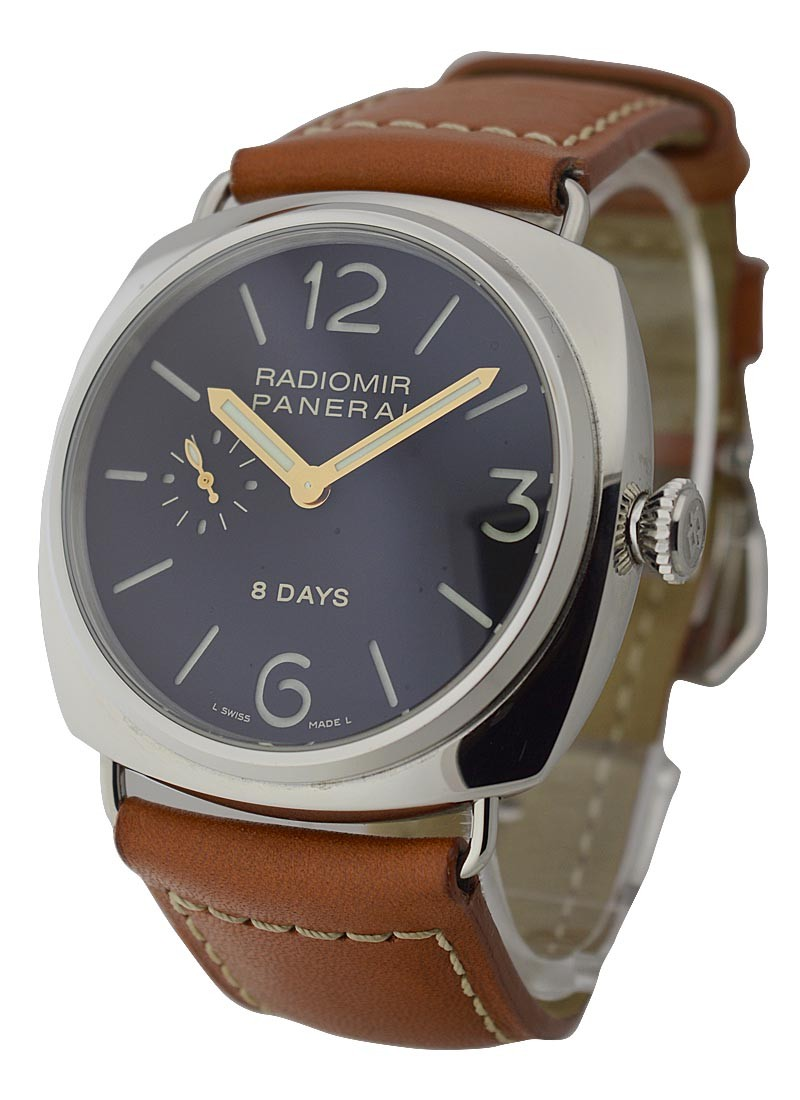 Panerai PAM 190 - 8 Day Radiomir with JLC Movement in Steel