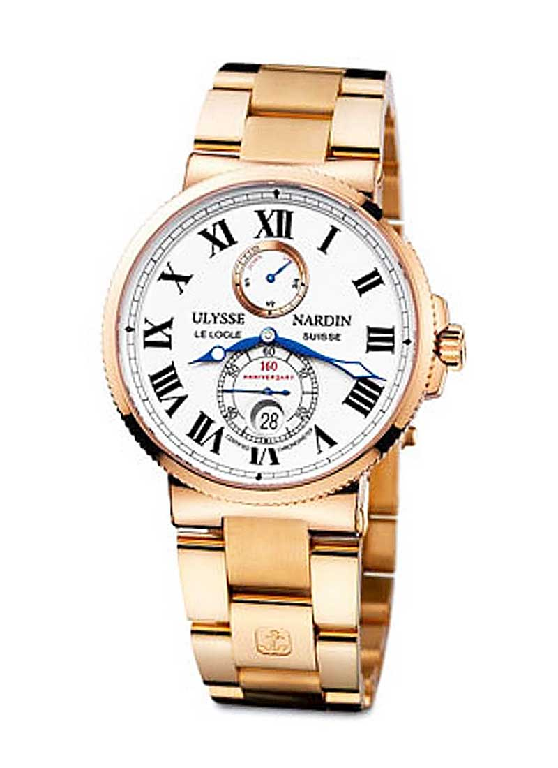 Ulysse Nardin Marine Chronometer 160 Anniversary in Rose Gold