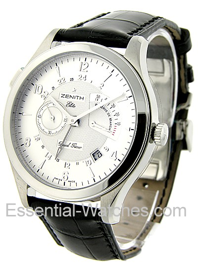 Zenith Elite Grande Dual Time and Power Reserve 44mm Autoamtic in Steel