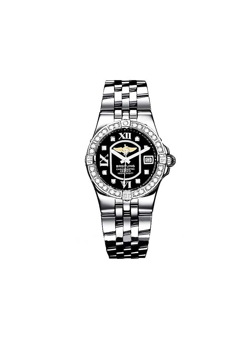 Breitling Lady's Starliner in Steel with Diamond Bezel