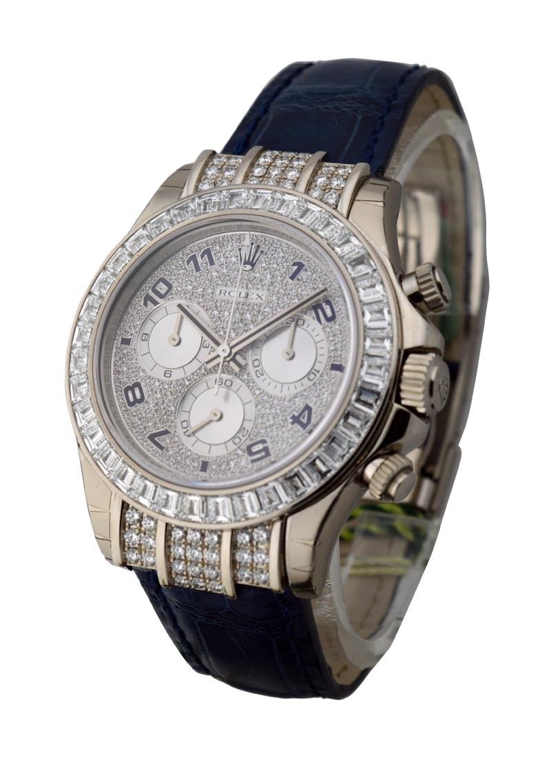Rolex Unworn Daytona Special Edition in White Gold with Diamond Bezel
