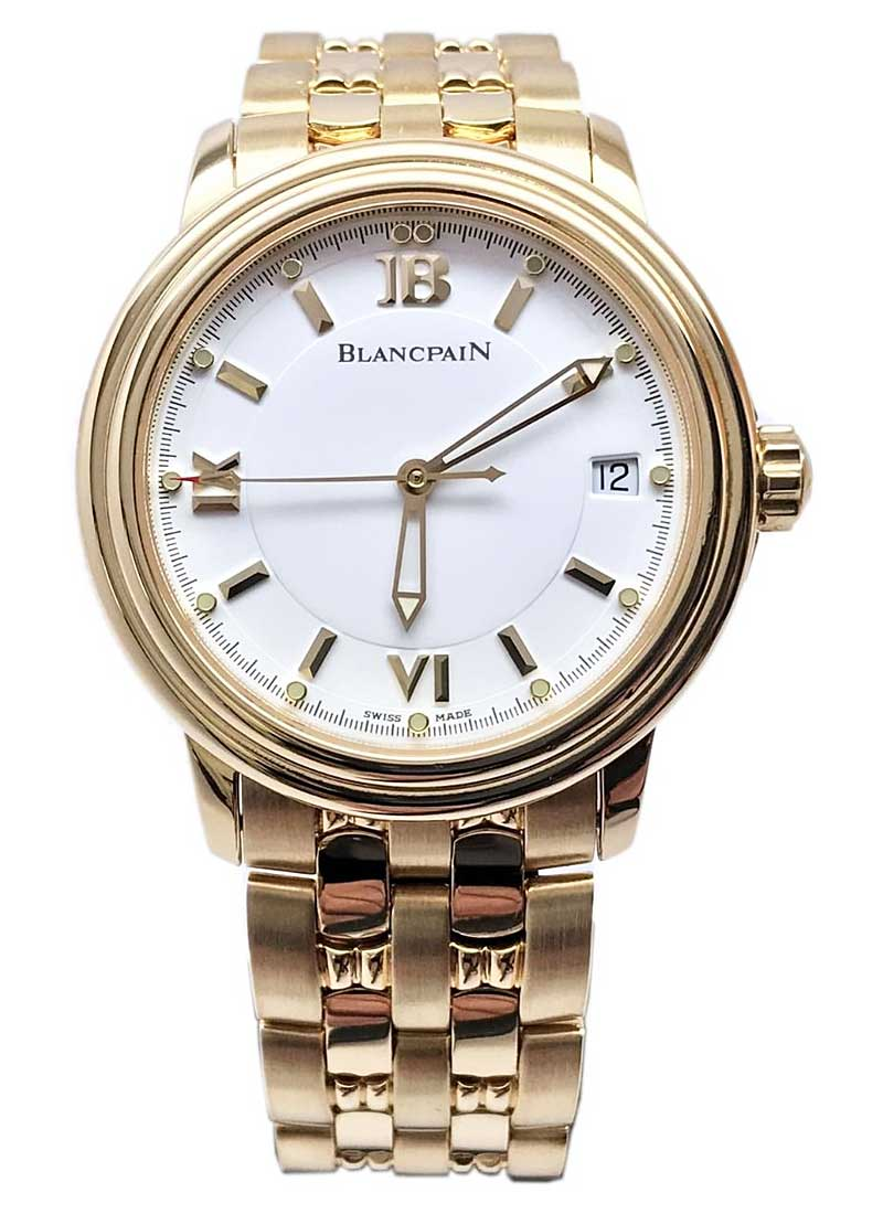 Blancpain Leman Ultra-Slim Big Date - Yellow Gold