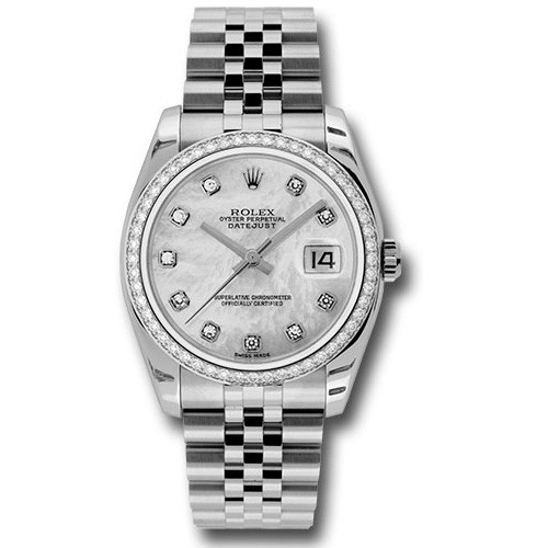 Rolex Unworn Datejust 36mm in Steel with Diamond Bezel
