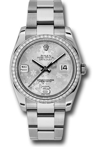 Rolex Unworn Datejust 36mm in Steel with White Gold Bezel and Diamonds