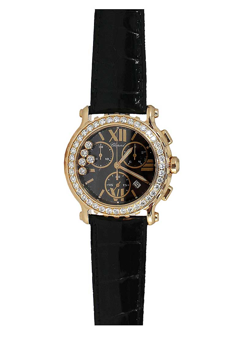 Chopard Happy Sport Chronograph with Diamond Bezel