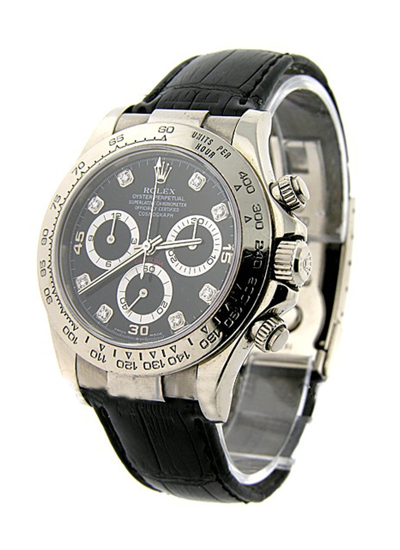 Rolex Unworn White Gold DAYTONA on Strap 116519