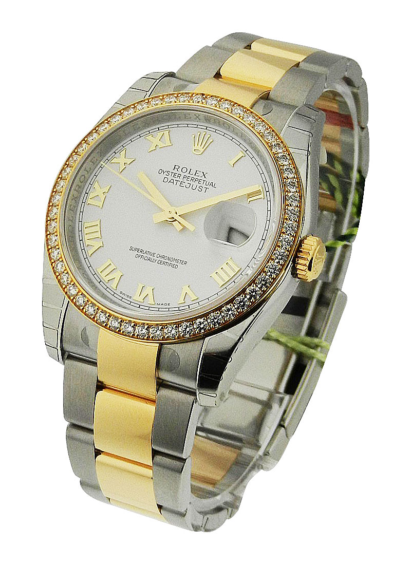 Rolex Unworn Datejust 36mm 2 -Tone with Diamond Bezel