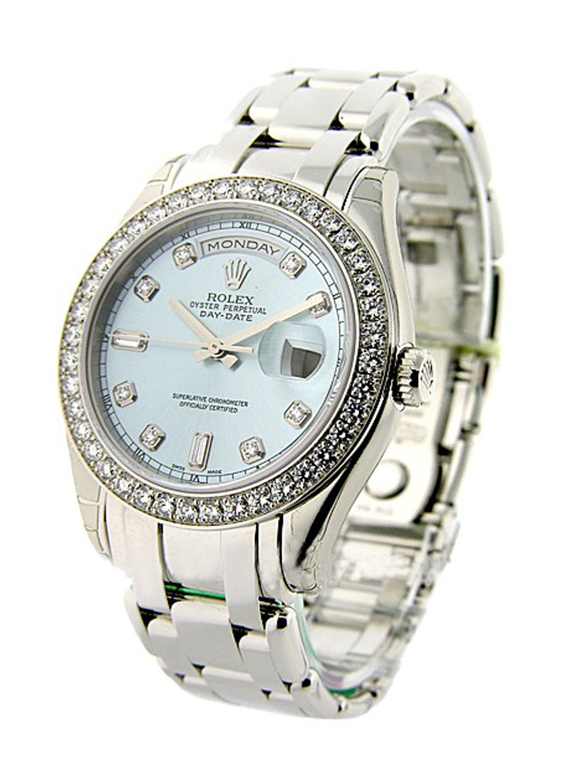 Rolex Unworn Masterpiece Men's in Platinum with Diamond Bezel