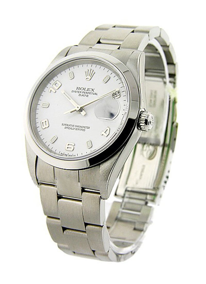 Rolex Used  Men's Steel DATE with Oyster Bracelet