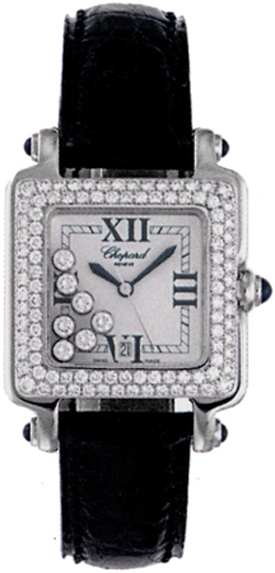 Chopard Happy Sport Classic Square in Stainless Steel with Diamond Bezel