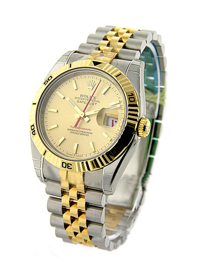 Rolex Unworn Datejust in Steel with Yellow Gold Turm-o-graph Bezel