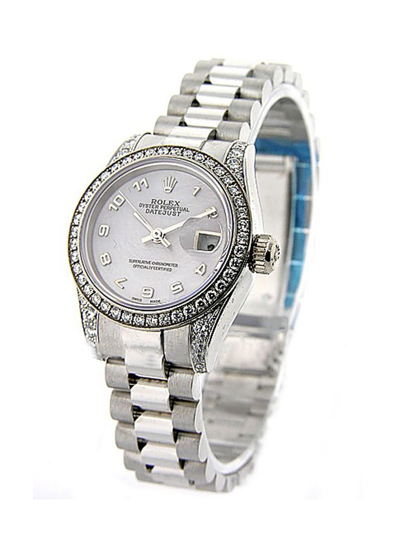 Rolex Unworn President 26mm in White Gold with Diamond Bezel