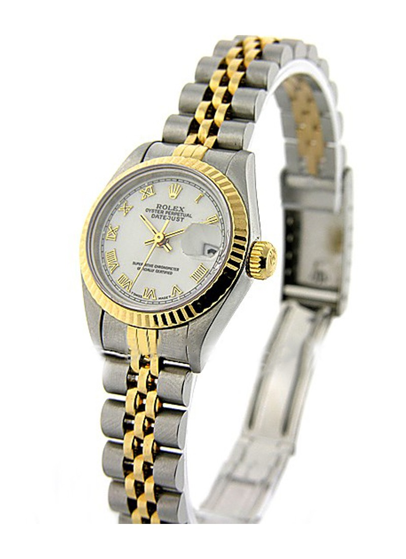 Rolex Used Datejust in Steel and Yellow Gold with Fluted Bezel