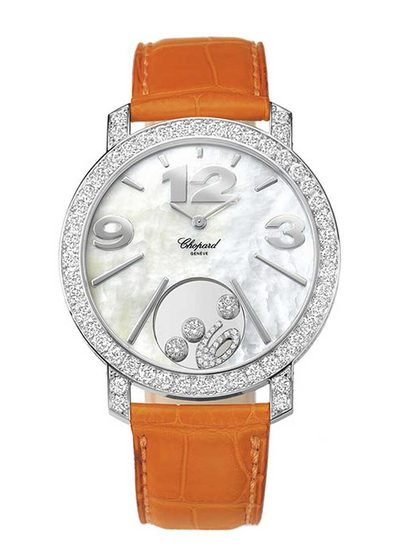 Chopard Happy Diamonds in White Gold with Diamond Bezel