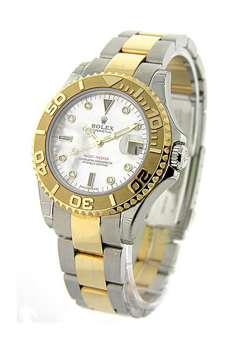 Rolex Used Yacht Master 35mm Autoamtic in Steel with Yellow Gold Bezel