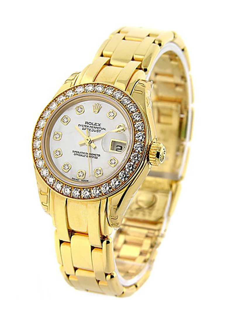 Rolex Unworn  Lady's Masterpiece in Yellow Gold with Diamond Bezel