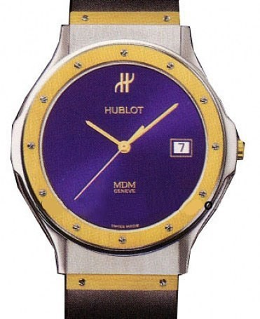Hublot Classic Large 36mm Quartz in Steel with Yellow Gold Bezel
