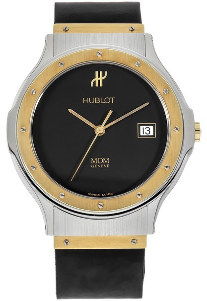 Hublot Classic Large in Steel with Yellow Gold Bezel