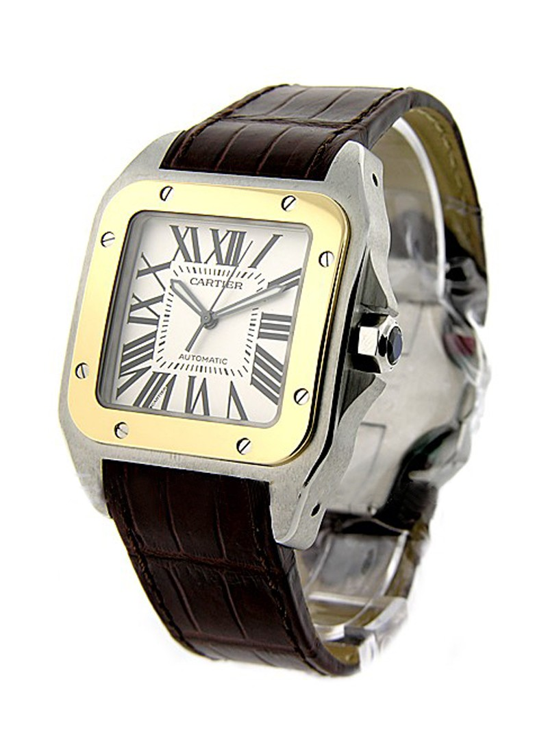 Cartier Santos 100 Large Size in 2-Tone