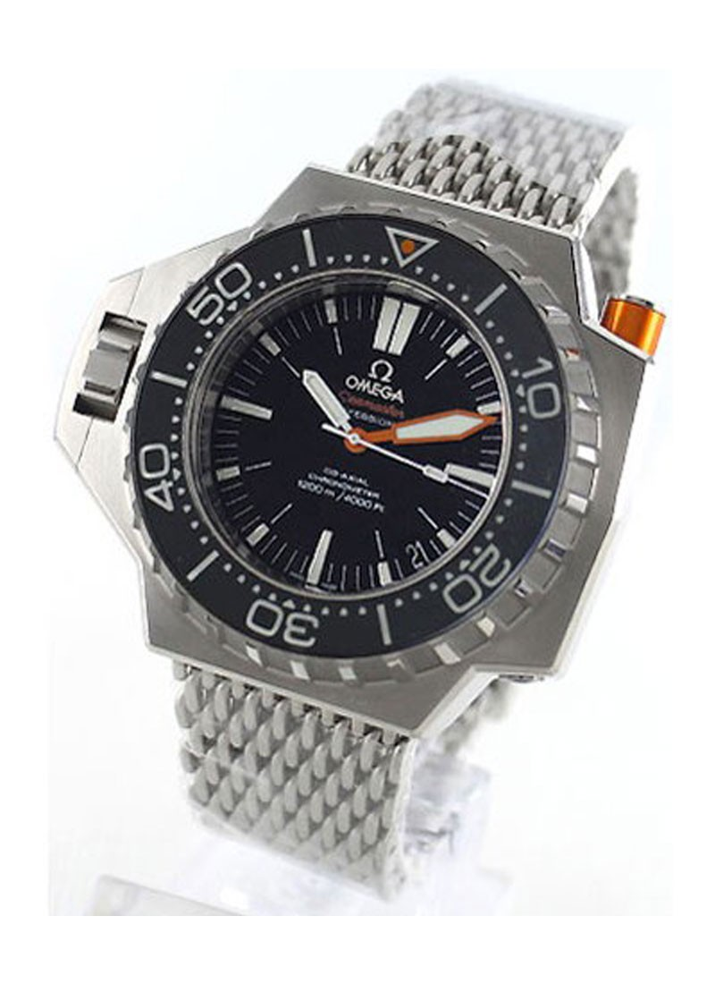 Omega Seamaster PloProf  Co-Axial in Steel with Black Bezel