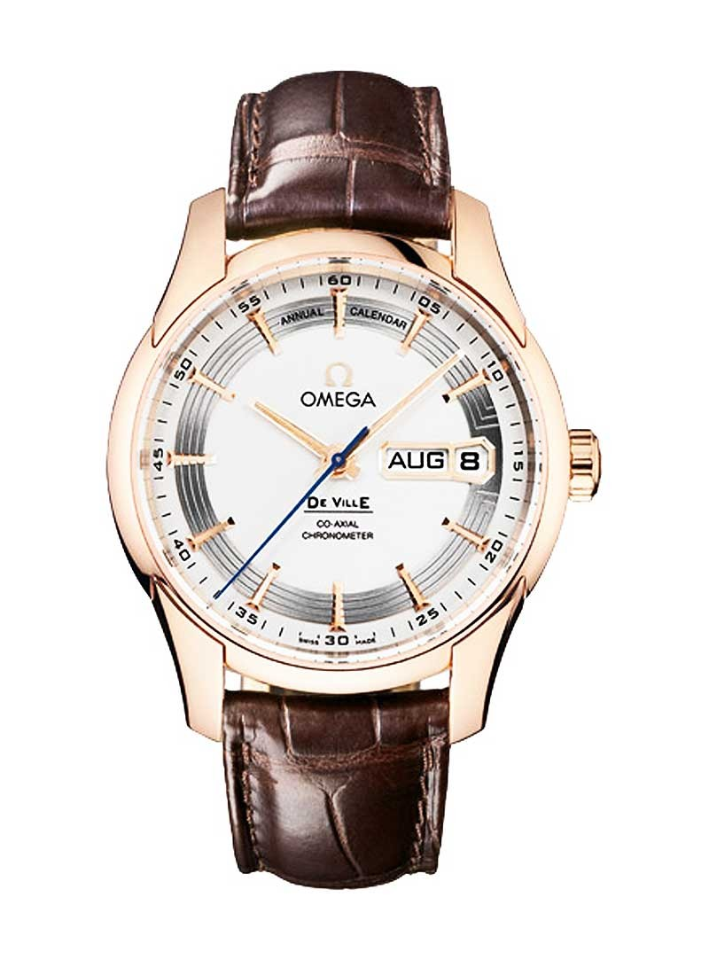 Omega De Ville Hour Vision Annual Calendar in Rose Gold