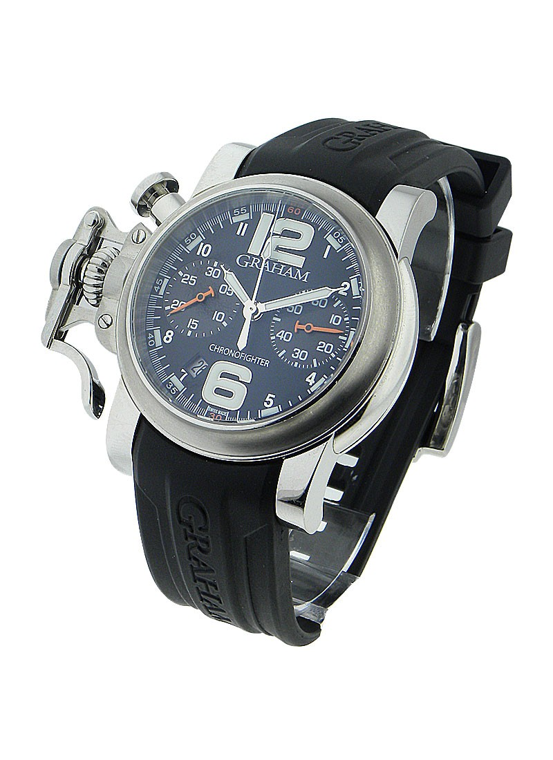 Graham Chronofighter R.A.C Black Fighter in Steel