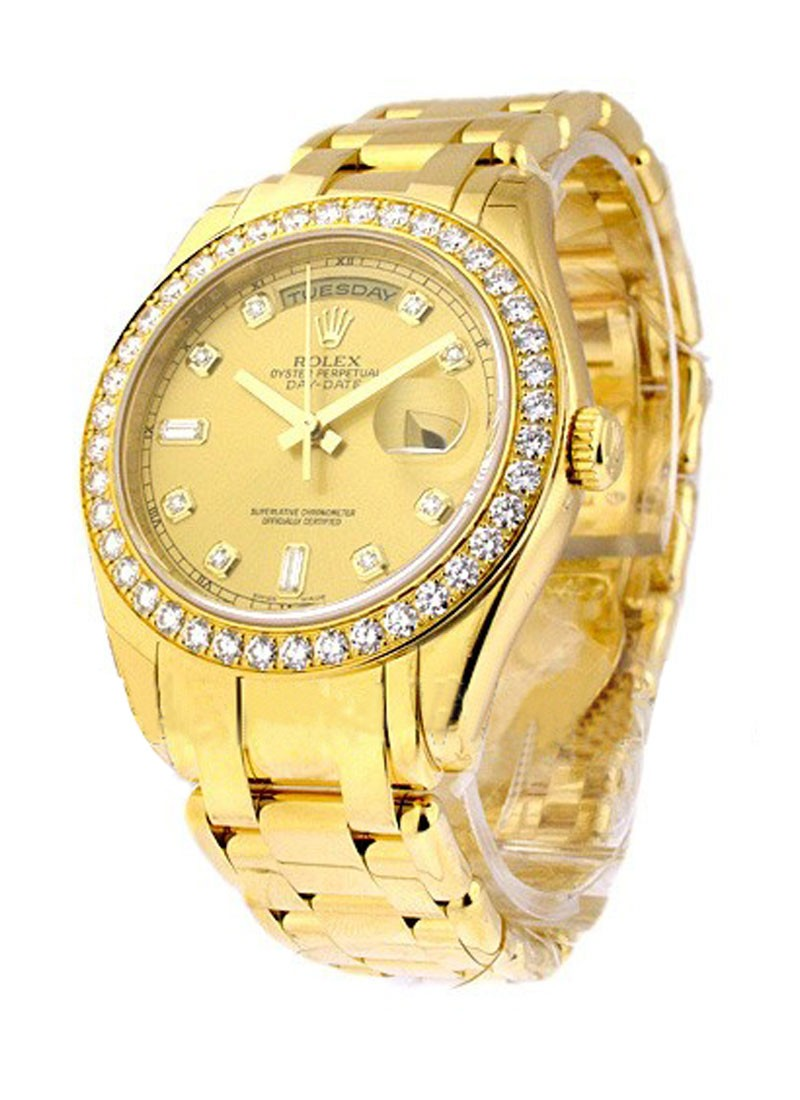 Rolex Unworn  Yellow Gold Men's MASTERPIECE with Diamond Bezel