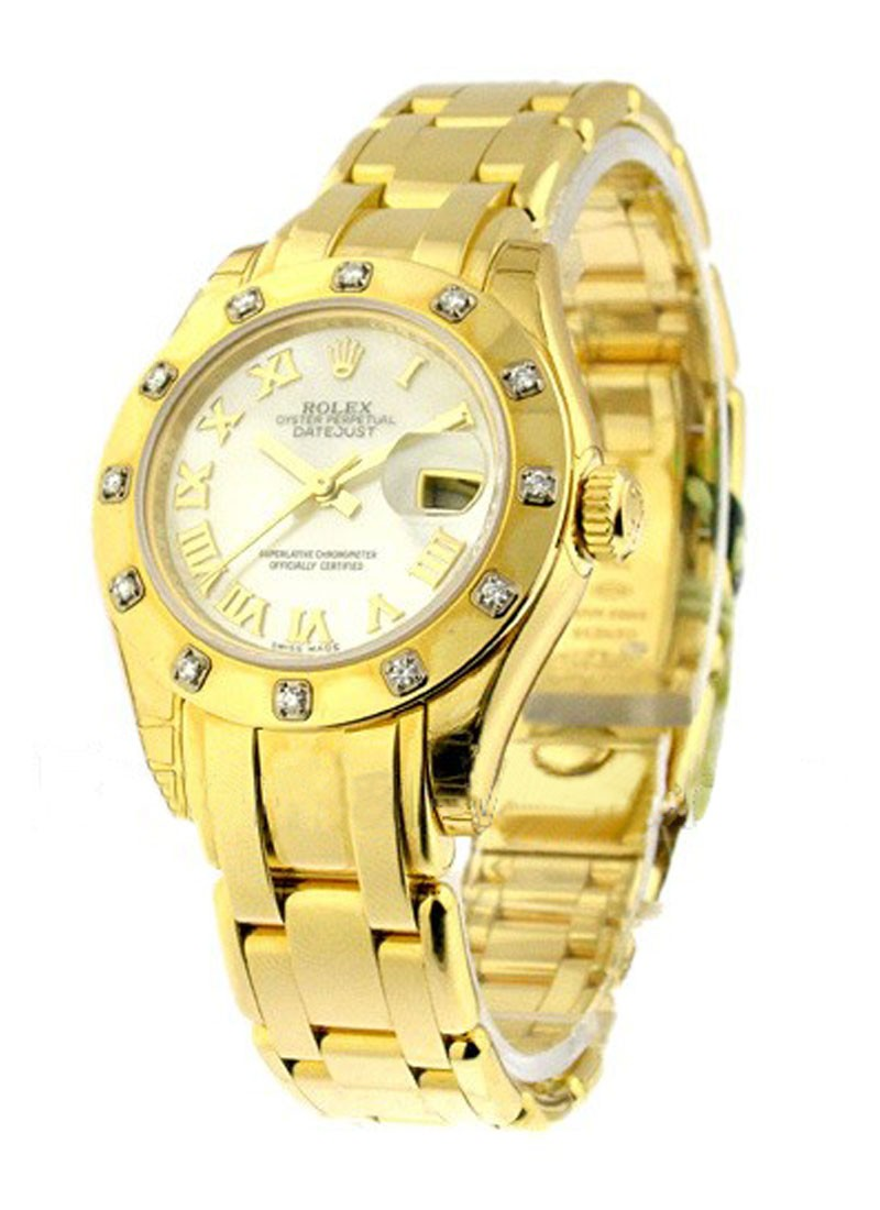 Rolex Unworn Lady's YG Masterpeice in Yellow Gold with 12 Diamond Bezel
