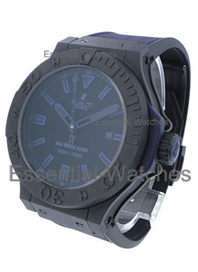 Hublot Big Bang King All Black Blue  48mm in Black Ceramic
