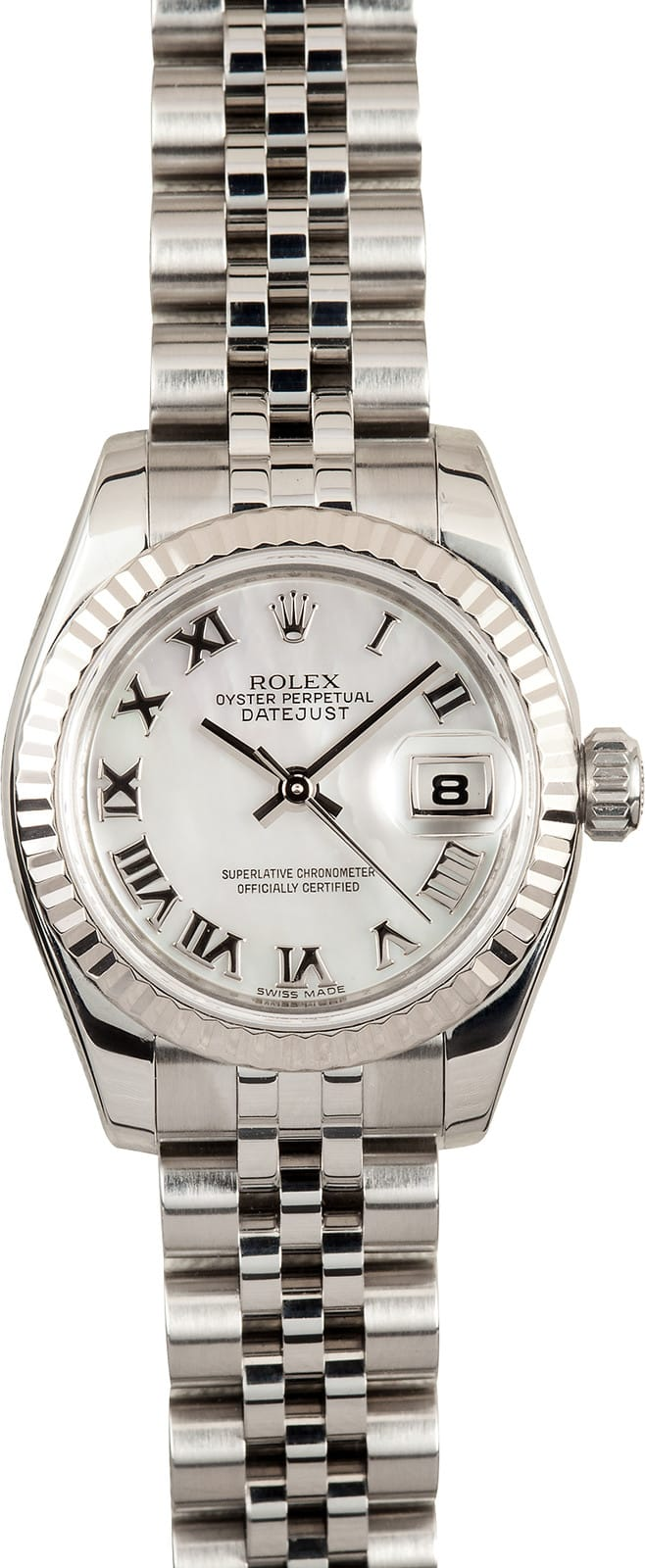 Rolex Unworn Datejust 36mm Automatic in Steel with White Gold Fluted Bezel