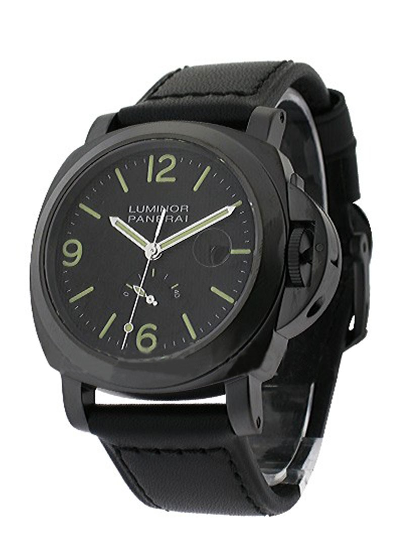 Panerai PAM 28 - Luminor Power Reserve Re-Run in Black PVD Steel