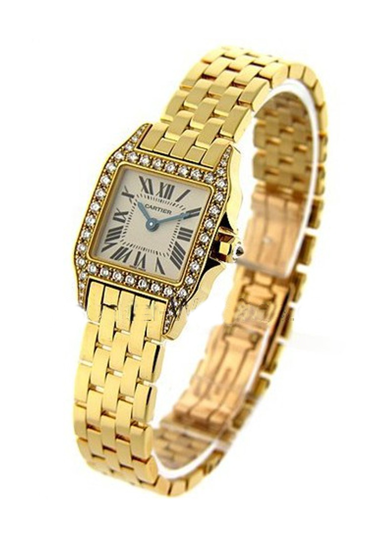 Cartier Santos Demoiselle  - Mid Size - Diamond Case