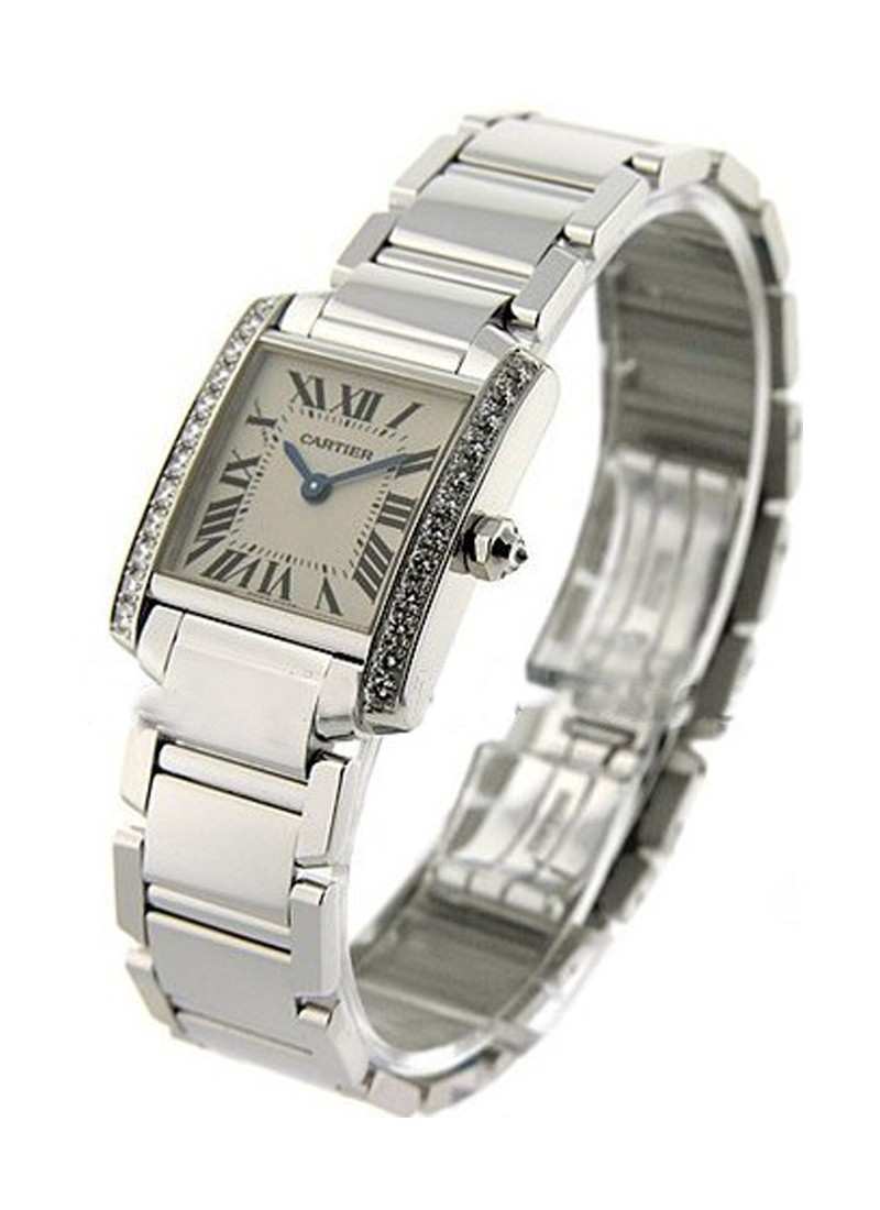 Cartier Tank Francaise   Small Size in White Gold