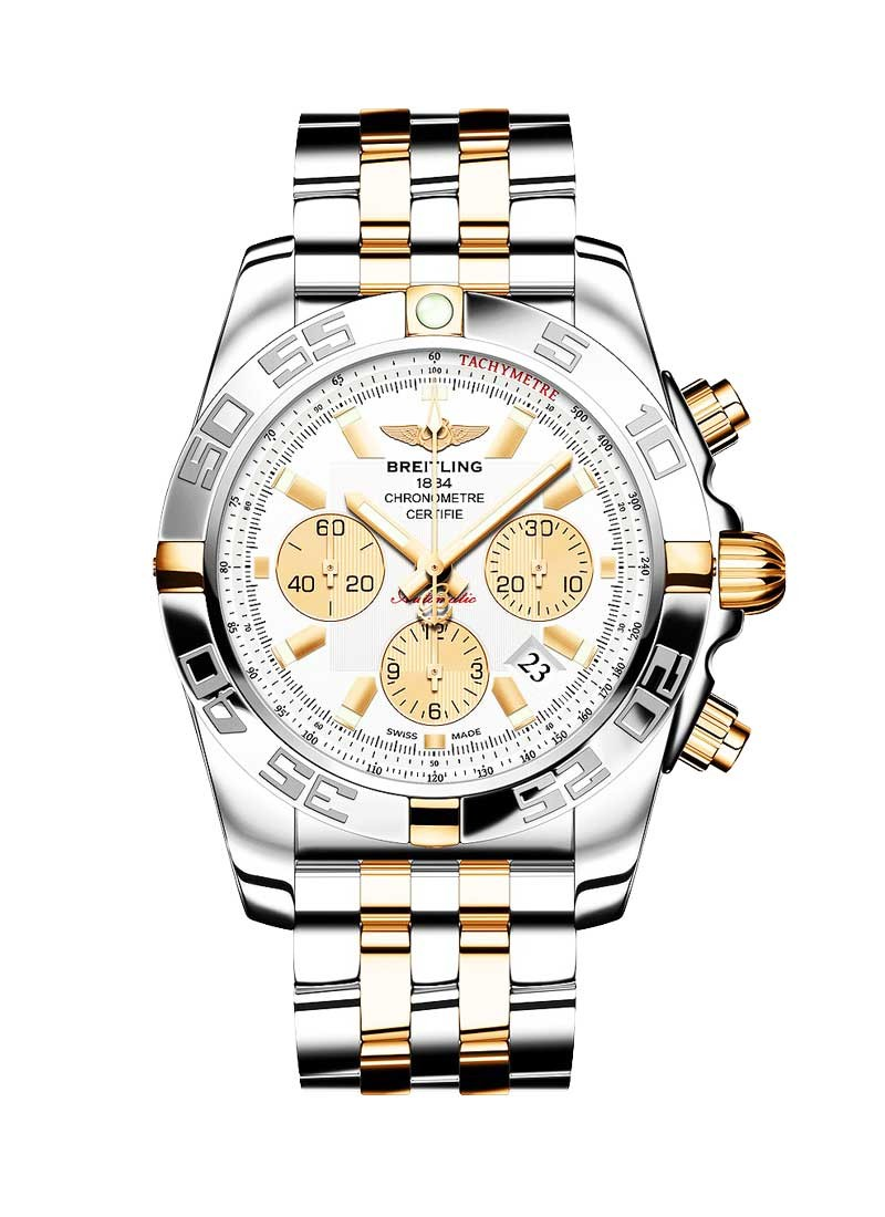 Breitling Chronomat B01 Chronograph in Steel and Yellow Gold