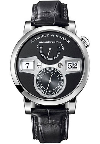 A. Lange & Sohne Zeitwerk Double Jumping Hour Mechanical in White Gold