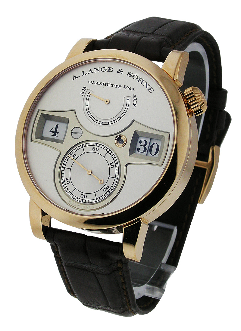 A. Lange & Sohne Zeitwerk Double Jumping Hour Mechanical in Rose Gold